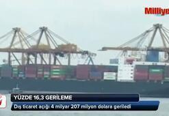 Dış ticaret açığı 4 milyar 207 milyon dolara geriledi
