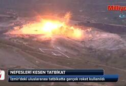 İzmirdeki uluslararası tatbikatta gerçek roket kullanıldı