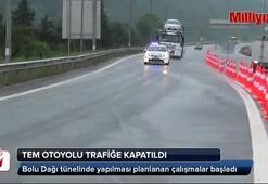 TEM Otoyolunda Kaynaşlı ve Abant Kavşağı arasındaki yol trafiğe kapatıldı