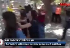 Ege Üniversitesinde eyleme sert müdahale: 17 gözaltı