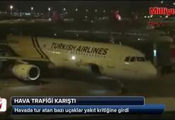 Atatürk Havalimanında hava trafiği karıştı