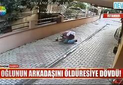 Küçük çocuğa öldüresiye dayak kamerada