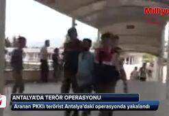 Aranan terörist Antalyada yakalandı