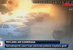 Sancaktepede meydana gelen patlama anı kamerada