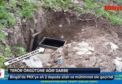 Bingöl'de PKK'ya ait 2 depoda silah ve mühimmat ele geçirildi