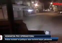Polise molotof atan terörist böyle yakalandı