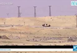 IŞİDin bomba yüklü kamyoneti füzeyle vuruldu
