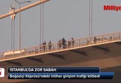 Boğaziçi Köprüsünde yine intihar girişimi