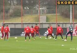 Bayern Münih antrenmanında ortaya kalan yandı