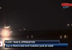 Zap ve Metina'daki terör hedefleri yerle bir edildi