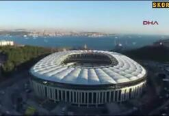 Çatısı biten Vodafone Arenanın görüntüleri