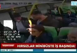 Minibüste 4 kişilik çete yolcuları böyle soydu