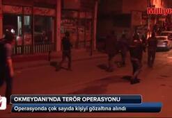 Okmeydanı'nda geniş kapsamlı terör operasyonu