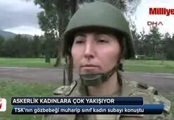 Askerlik kadınlara çok yakışıyor
