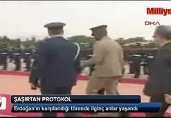 Erdoğana Ganada şaşırtan protokol