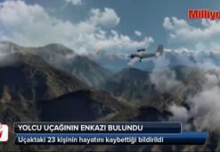 Kayıp uçağın enkazı bulundu