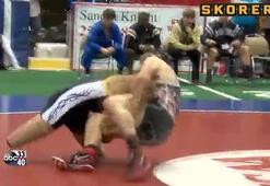 Protez bacaklarıyla eyalet rekoru kırarak şampiyon oldu