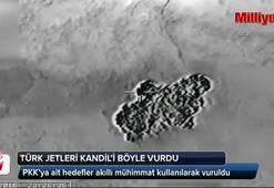 Türk jetleri Kandili vurdu