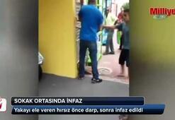 Hırsız sokak ortasında infaz edildi (+18)
