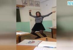 Sınıfta çılgın dans rekor kırdı