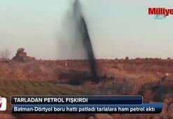 Tarladan petrol fışkırdı