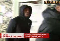 Sağlık kontrolünde gözle taciz kameralara yakalandı