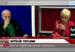 Yaşar Nuri canlı yayında Gülgün Feymana hakaret etti
