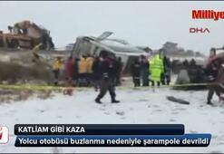 Ankara yolunda katliam gibi kaza