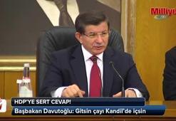 Başbakan Davutoğlundan HDPye sert mesaj