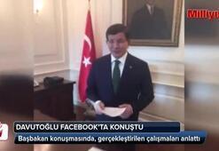 Davutoğlu Facebookta konuştu