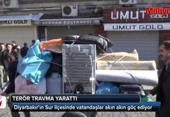 Diyarbakırın Sur ilçesinde halk göç ediyor
