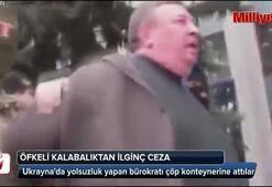 Yolsuzluk yapan politikacıyı çöpe attılar