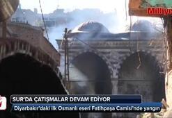 Diyarbakır'daki ilk Osmanlı eseri Fatihpaşa Camisinde yangın