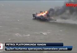 Petrol platformunda yangın