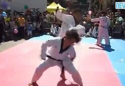 Şoke eden karate gösterisi