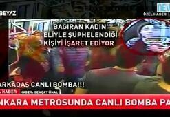 Ankara metrosunda yaşanan canlı bomba korkusu kamerada