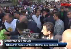 Cenaze töreninde PKK tepkisi