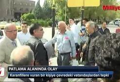 Ankaradaki patlama alanında gerginlik