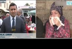 NTV canlı yayınında patlama sesi