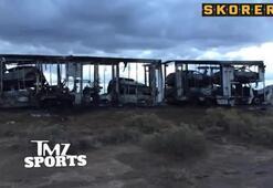 Mayweathera şok 4 lüks aracı yandı