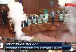 Vekiller Meclis Salonuna göz yaşartıcı gaz attı