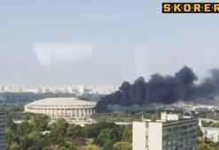 Dünya Kupası Stadında yangın paniği