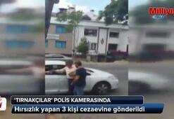'Tırnakçılar' polis kamerasında