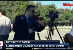 Anıtkabirde Octokopter paniği