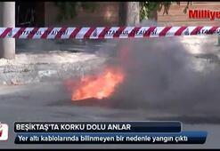 Beşiktaşta korku dolu anlar
