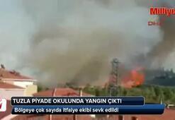 Tuzlada askeri alanda yangın