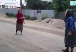 Yaşlı kadından inanılmaz atış