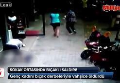 Sokak ortasında genç kadına bıçaklı saldırı (+18)