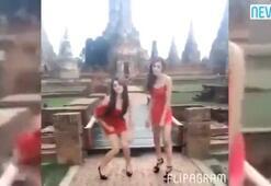 Mini elbiseli kızların dansı ülkeyi karıştırdı