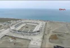 Trabzonun yeni stadyumunda sona yaklaşıldı